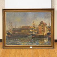 北欧デンマークのビンテージ雑貨/UD2075/油絵