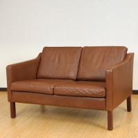 北欧デンマークのビンテージ家具/UD2085/2Pソファー(革)