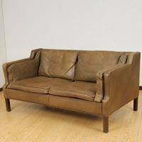 北欧家具アウトレット/北欧デンマークのビンテージ家具/UD2099/2Pソファー(革)