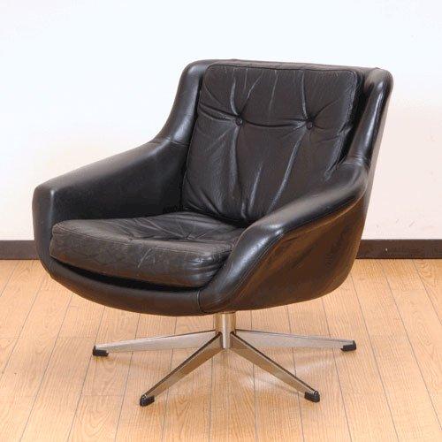 北欧家具アウトレット/北欧デンマークのビンテージ家具/UD3068/パーソナルチェアー(革)