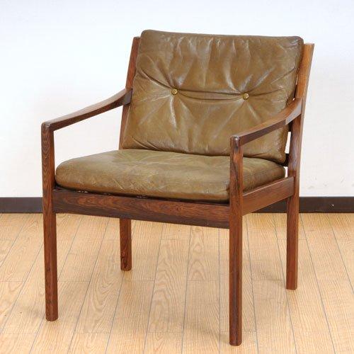 北欧デンマークのビンテージ家具/UD3086/イージーチェア(RW)(革)