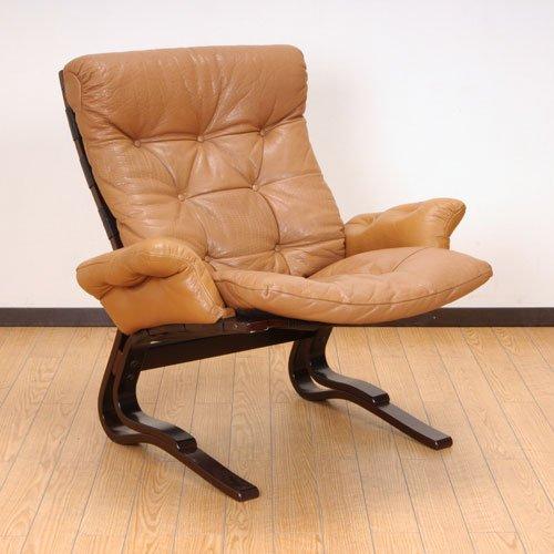 北欧デンマークのビンテージ家具/UD3070/イージーチェアー(革)