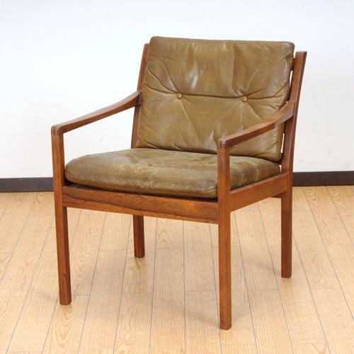 北欧デンマークのビンテージ家具/UD3085/イージーチェアー(RW)(革)