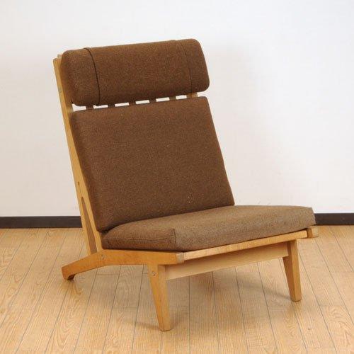 北欧デンマークのビンテージ家具/UD3095/ウェグナー イージーチェア(布)