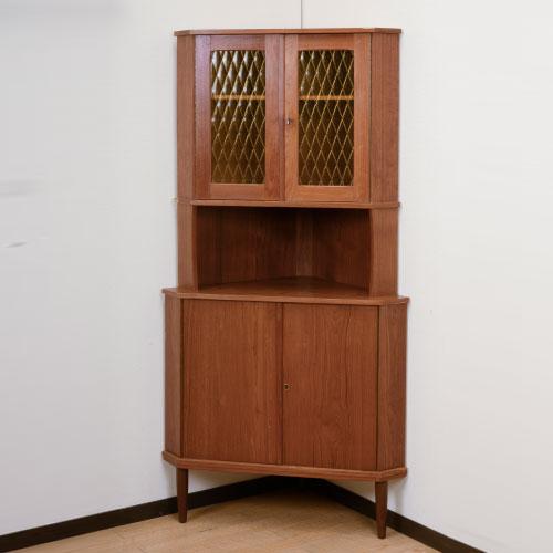 北欧デンマークのビンテージ家具/UD4119/コーナーキャビネット