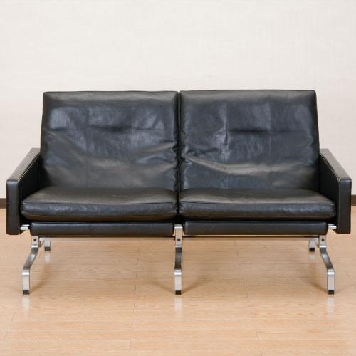 北欧デンマークのビンテージ家具/UD4096/ポール・ケアホルムPK31 2Pソファ