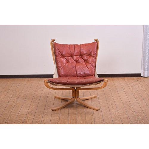 北欧デンマークのビンテージ家具/UD5009/ファルコンチェア(革)(A)(B)/ノルウェイ