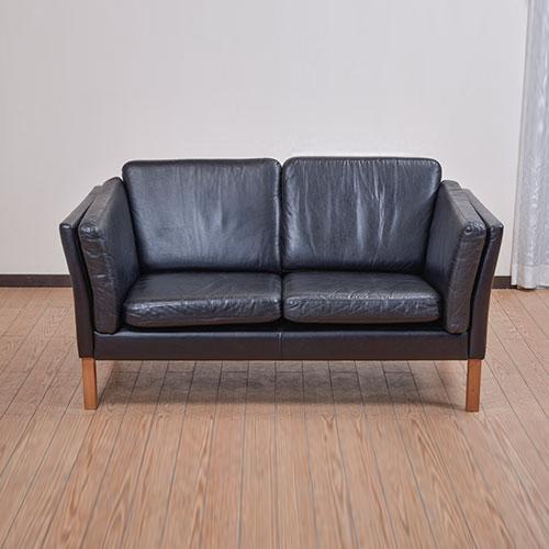 北欧デンマークビンテージ家具/UD5087/2Pソファ(革)