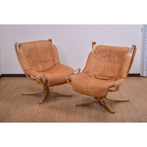 北欧デンマークビンテージ家具/UD5073/ファルコンチェアー(革)(A)(B)※ノルウェイ