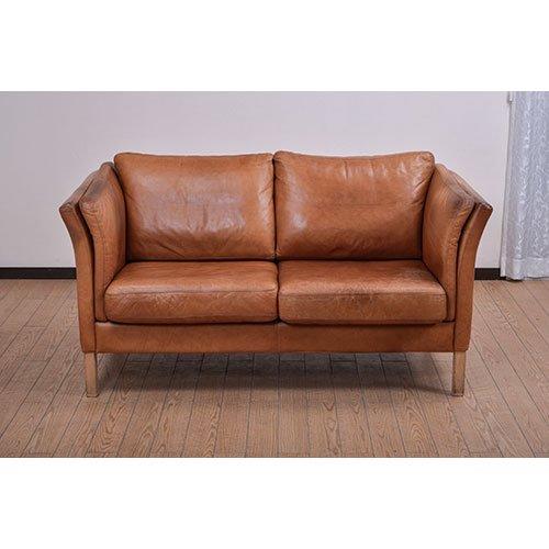 北欧デンマークビンテージ家具/UD5072/2Pソファ(革)