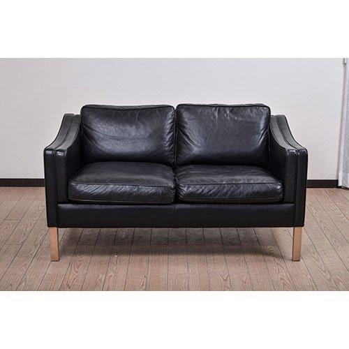 北欧デンマークビンテージ家具/UD5057/2Pソファ(革)