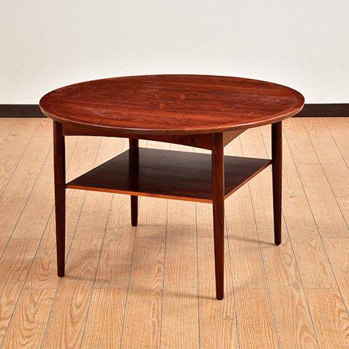 北欧デンマークビンテージ家具/UD6005/ラウンドコーヒーテーブル