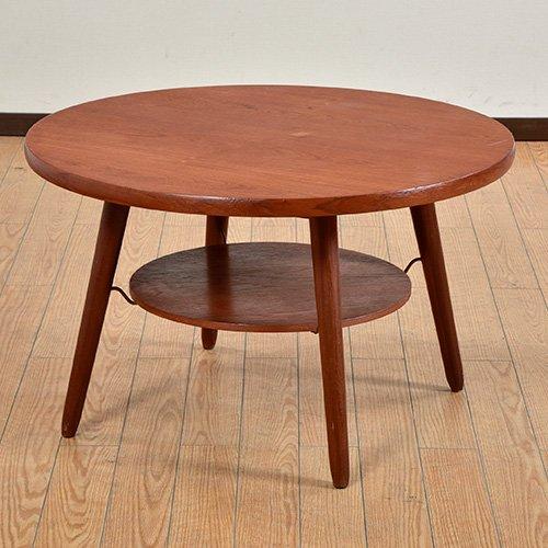 北欧デンマークビンテージ家具/UD6013/ラウンドコーヒーテーブル