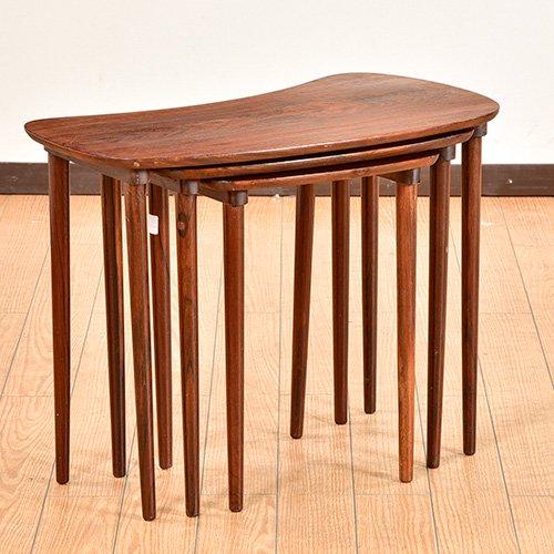 北欧デンマークビンテージ家具/UD6047/ネストテーブル