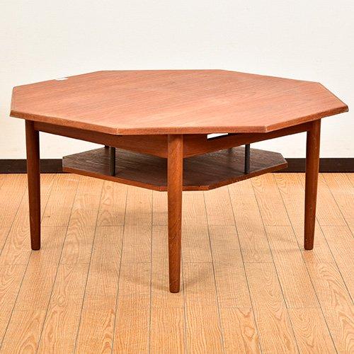 北欧デンマークビンテージ家具/UD6054/八角サイドテーブル