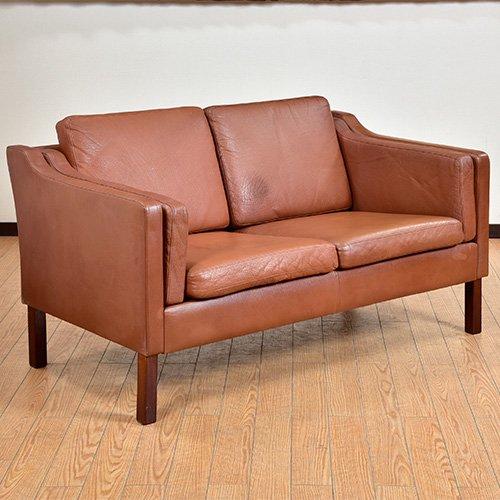 北欧デンマークビンテージ家具/UD6068/二人掛けソファ