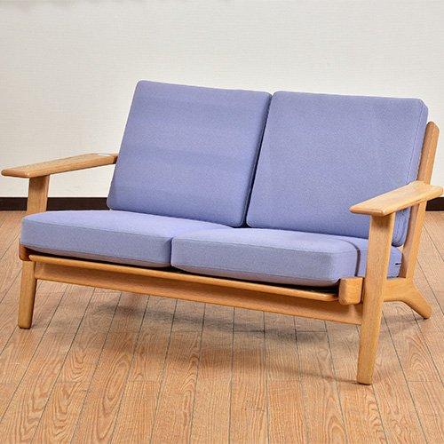 北欧デンマークビンテージ家具/UD6072/GE290 2Pソファ/ウェグナー