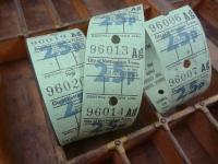 イギリスの古いバスチケットAG