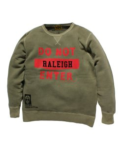 "RALEIGH(2色展開)<br>【 DO NOT ENTER RALEIGH ""俺のじゃまはするな"" COLLEGE C/N SWEAT 】"