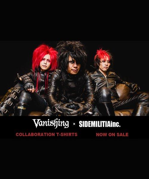 Official Artist Goods / バンドTなど |Vanishing × SIDEMILITIA / ヴァニシング × サイドミリティア:COLLABORATION T-SHIRTS (BLACK) 商品画像5