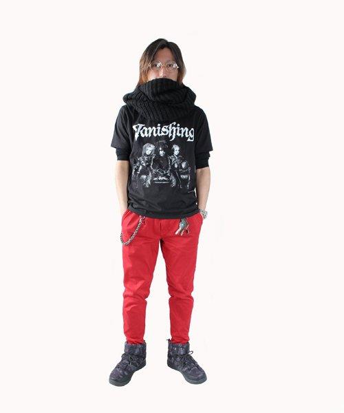Official Artist Goods / バンドTなど |Vanishing × SIDEMILITIA / ヴァニシング × サイドミリティア:COLLABORATION T-SHIRTS (BLACK) 商品画像6