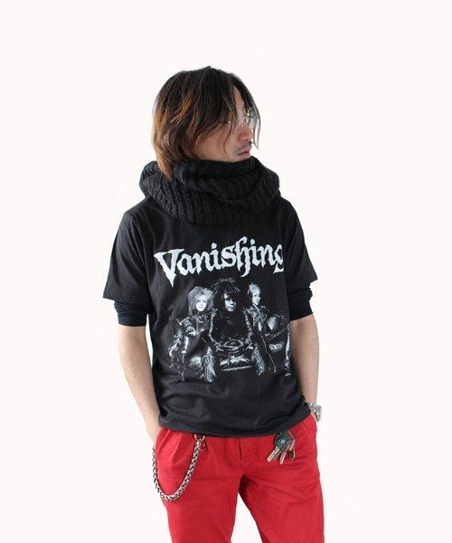 Official Artist Goods / バンドTなど |Vanishing × SIDEMILITIA / ヴァニシング × サイドミリティア:COLLABORATION T-SHIRTS (BLACK) 商品画像7