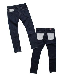 "RALEIGH:REDMOTEL<br>【 1977 ""通称77(ナナナナ)"" 2TONE DENIM PANTS(INDIGO)】"