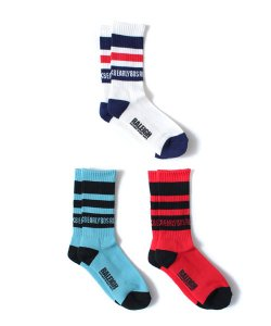 "RALEIGH:REDMOTEL(3色展開)<br>【 ""EXCITEMENT OF EARLY80'S RALEIGH"" SK-8 SOX 】"