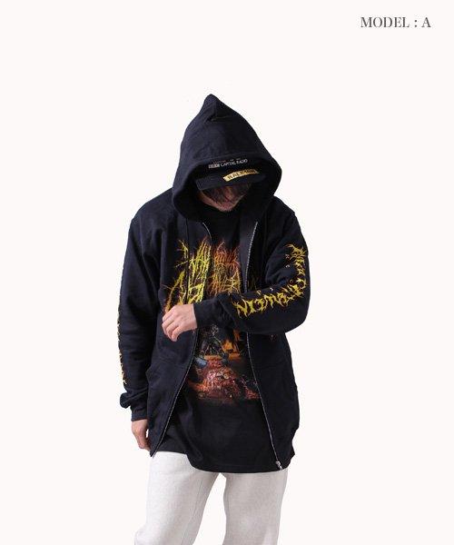 Official Artist Goods / バンドTなど |WAKING THE CADAVER / ウェイキング・ザ・キャダバー:REAL-LIFE DEATH ZIP-UP HOODIE 商品画像11