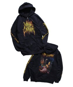 WAKING THE CADAVER<br>【 REAL-LIFE DEATH ZIP-UP HOODIE 】