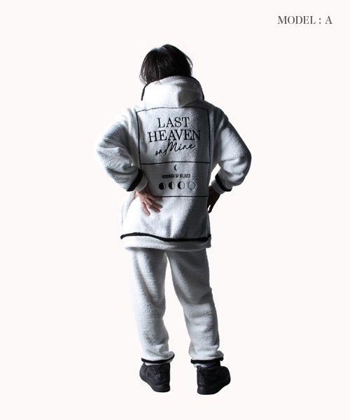 NIL DUE / NIL UN TOKYO / ニル デュエ / ニル アン トーキョー   FLUFFY ZIP HOOD SET UP / WH 商品画像13