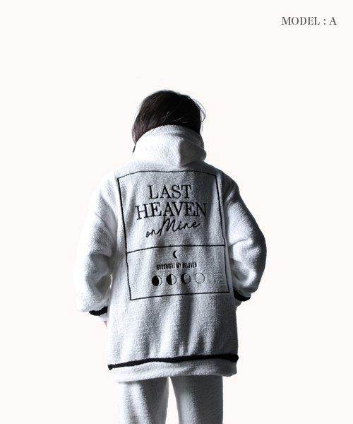 NIL DUE / NIL UN TOKYO / ニル デュエ / ニル アン トーキョー   FLUFFY ZIP HOOD SET UP / WH 商品画像15