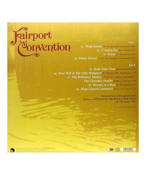 CD / DVD  FAIRPORT CONVENTION / フェアポート コンヴェンション:MOAT ON THE LEDGE LIVE AT BROUGHTON CASTLE (輸入盤CD) 商品画像1