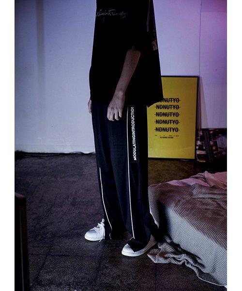 NIL DUE / NIL UN TOKYO / ニル デュエ / ニル アン トーキョー | ROPE PIPING SPLIT WIDE PANTS 商品画像8