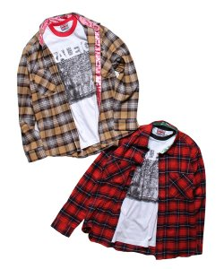 RALEIGH:REDMOTEL<br>【 SMELLSLIKETHE90sFLANNELSHIRTS with U.S.RALEIGH NY PUNKWALL RINGER T-SHIRTS 】
