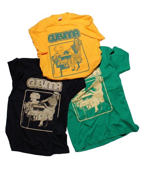 Official Artist Goods / バンドTなど | GUEVNNA / ゲヴンナ:ENGINE OF DEATH SHIRT (GREEN/GOLD YELLOW/BLACK) 商品画像