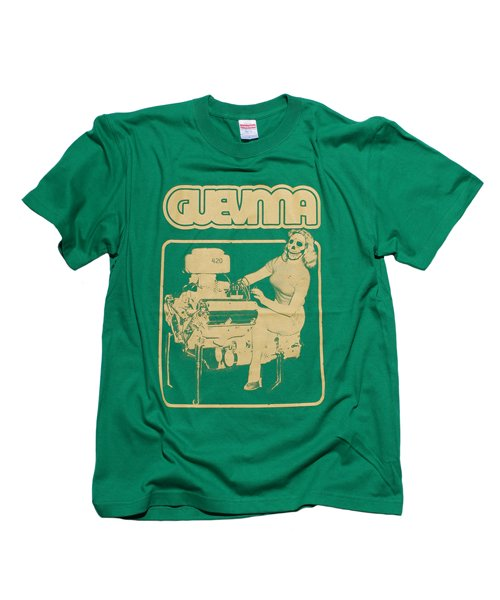 Official Artist Goods / バンドTなど |GUEVNNA / ゲヴンナ:ENGINE OF DEATH SHIRT (GREEN/GOLD YELLOW/BLACK) 商品画像1