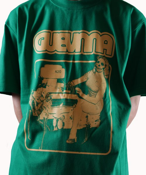 Official Artist Goods / バンドTなど |GUEVNNA / ゲヴンナ:ENGINE OF DEATH SHIRT (GREEN/GOLD YELLOW/BLACK) 商品画像13