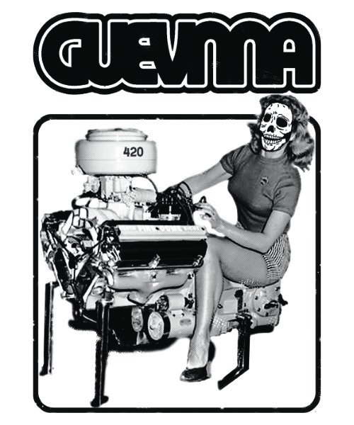 Official Artist Goods / バンドTなど |GUEVNNA / ゲヴンナ:ENGINE OF DEATH SHIRT (GREEN/GOLD YELLOW/BLACK) 商品画像4