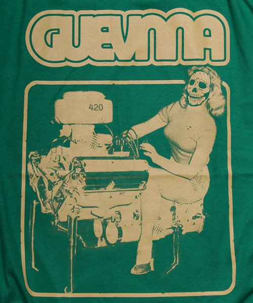 Official Artist Goods / バンドTなど |GUEVNNA / ゲヴンナ:ENGINE OF DEATH SHIRT (GREEN/GOLD YELLOW/BLACK) 商品画像5