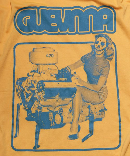 Official Artist Goods / バンドTなど |GUEVNNA / ゲヴンナ:ENGINE OF DEATH SHIRT (GREEN/GOLD YELLOW/BLACK) 商品画像6