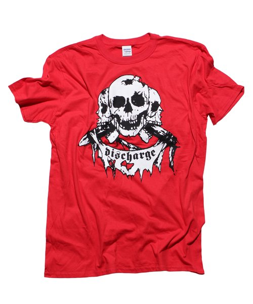Official Artist Goods / バンドTなど |DISCHARGE / ディスチャージ:BORN TO DIE T-SHIRT (BLACK/RED) 商品画像1