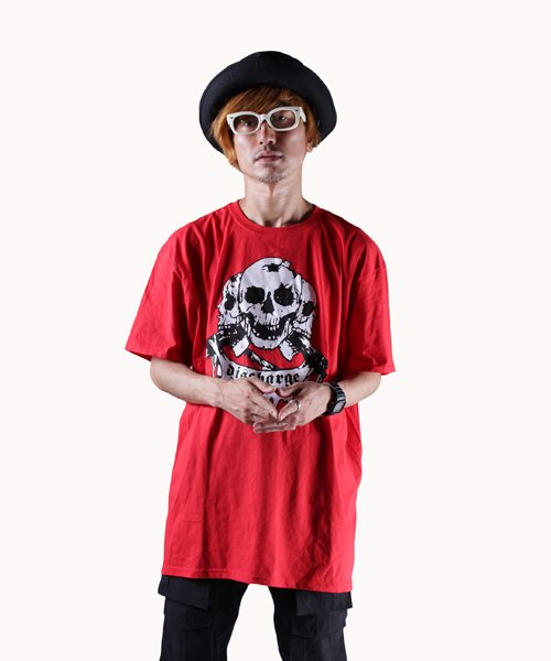 Official Artist Goods / バンドTなど |DISCHARGE / ディスチャージ:BORN TO DIE T-SHIRT (BLACK/RED) 商品画像10