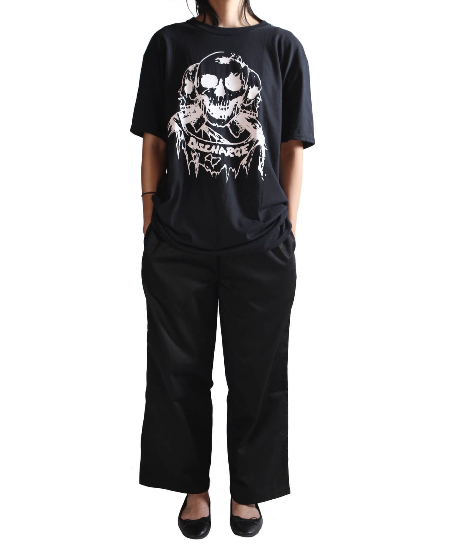 Official Artist Goods / バンドTなど |DISCHARGE / ディスチャージ:BORN TO DIE T-SHIRT (BLACK/RED) 商品画像14