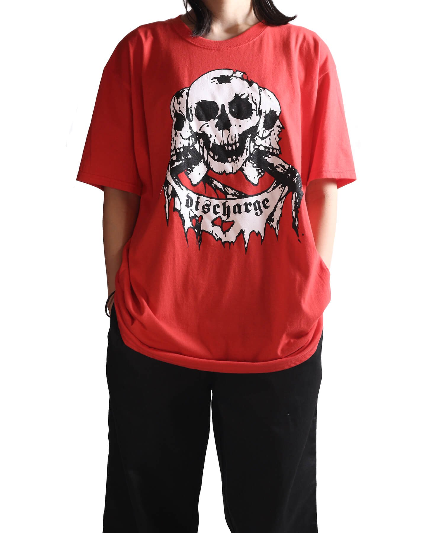 Official Artist Goods / バンドTなど |DISCHARGE / ディスチャージ:BORN TO DIE T-SHIRT (BLACK/RED) 商品画像18