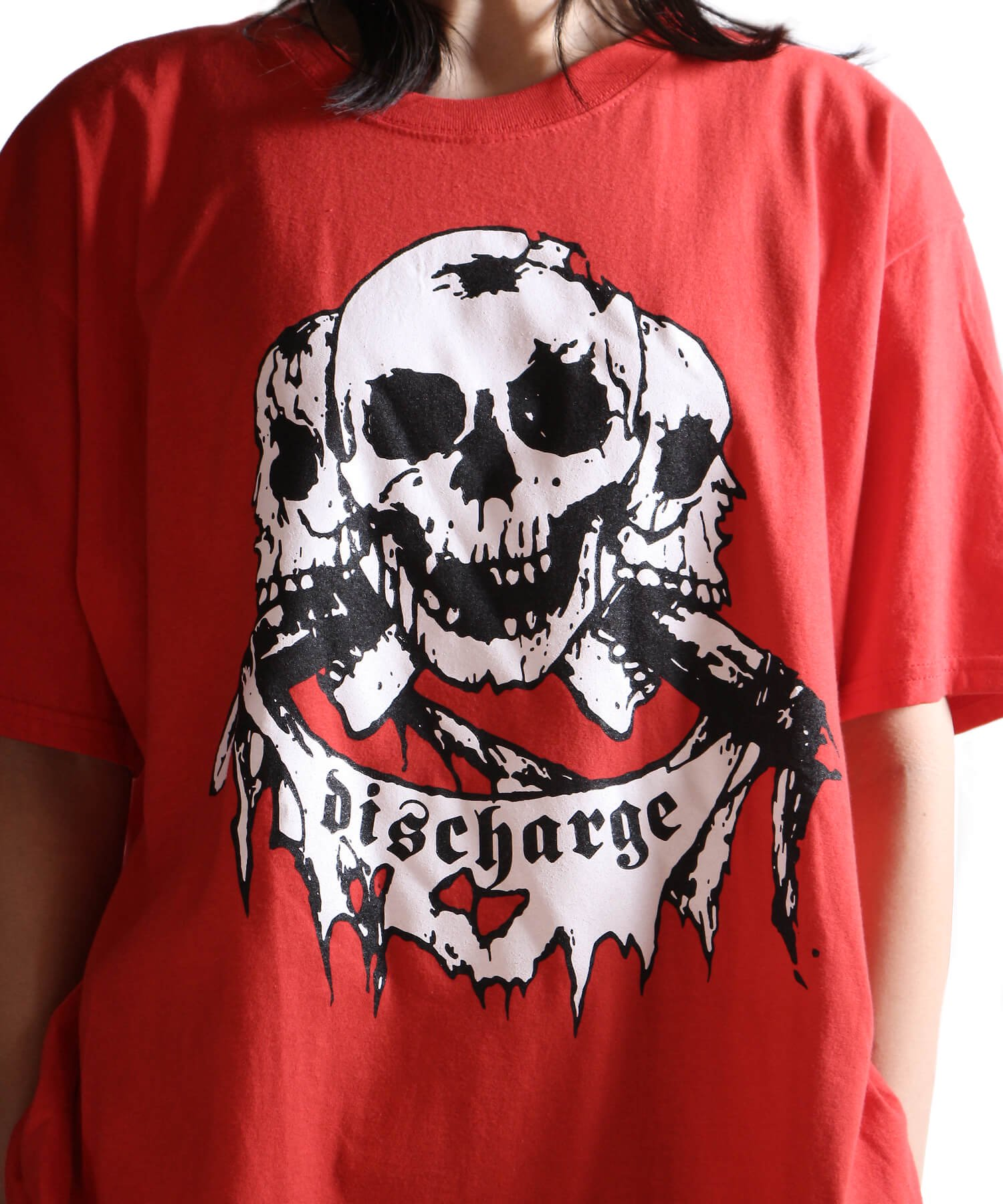 Official Artist Goods / バンドTなど |DISCHARGE / ディスチャージ:BORN TO DIE T-SHIRT (BLACK/RED) 商品画像19