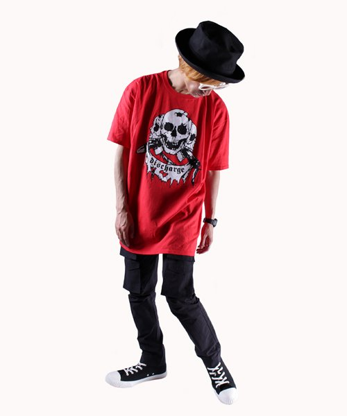 Official Artist Goods / バンドTなど |DISCHARGE / ディスチャージ:BORN TO DIE T-SHIRT (BLACK/RED) 商品画像8