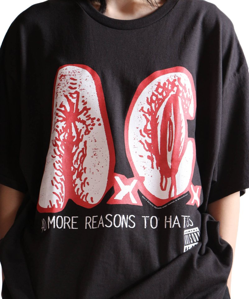 Official Artist Goods / バンドTなど |AxCx (ANAL CUNT) / アナル カント:40 MORE REASONS TO HATE US T-SHIRT (BLACK) 商品画像6