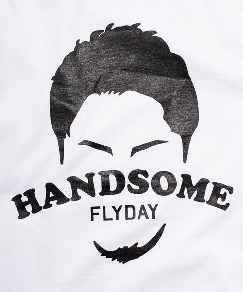 Official Artist Goods / バンドTなど |HANDSOME FLYDAY / ハンサム フライデイ:OFFICIAL T-SHIRT (WHITE/BLACK) 商品画像3
