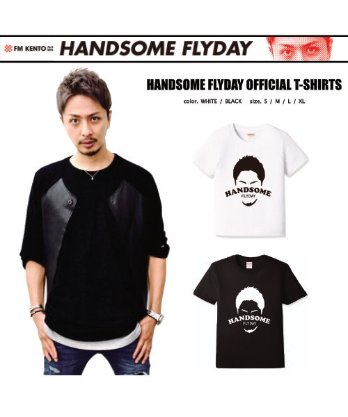 Official Artist Goods / バンドTなど |HANDSOME FLYDAY / ハンサム フライデイ:OFFICIAL T-SHIRT (WHITE/BLACK) 商品画像5